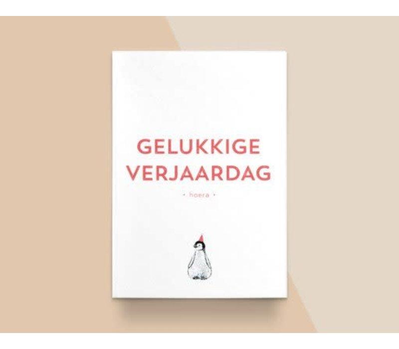 """Kathings - Postkaart - Animals  """"Gelukkige Verjaardag"""" Pingiun"""