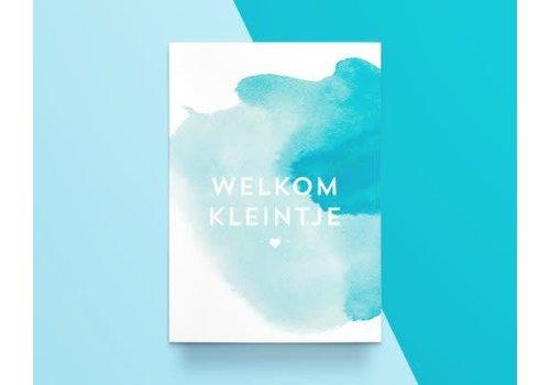 """Kathings Kathings - Postkaart - Colors """"Welkom Kleintje"""""""