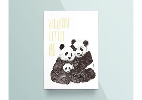 "Kathings Kathings - Postkaart - Animals  ""Welcome Little One"" Panda's"