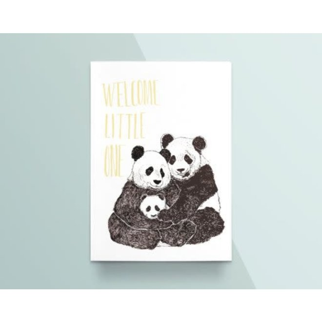 """Kathings - Postkaart - Animals  """"Welcome Little One"""" Panda's"""