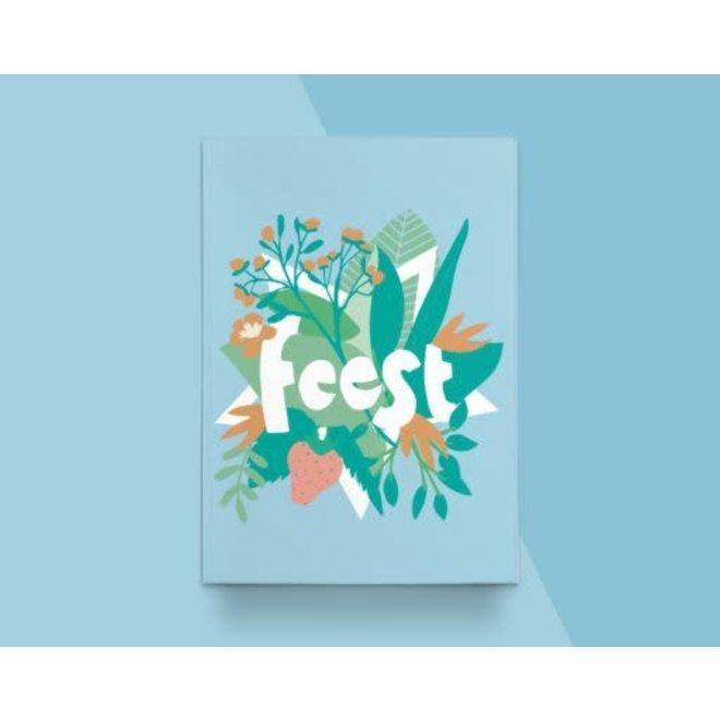 """Kathings - Postkaart - Flowers """"Feest"""""""