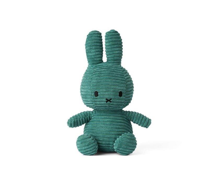 "Miffy "" Nijntje"" - Corduroy groen (33 cm)"