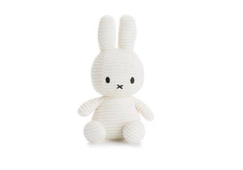 """Nijntje Miffy """" Nijntje"""" - Corduroy Wit (23 cm)"""