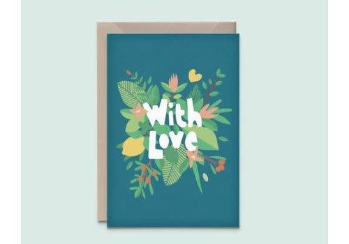 """Kathings Kathings - Postkaart - """"With Love"""""""