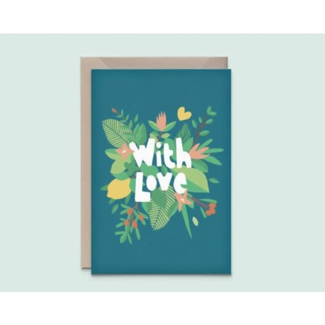 """KATHINGS  - Postkaart - """"With Love"""""""