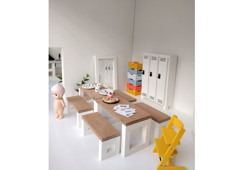 PROJECT DOLLHOUSE - Eettafel Set - Wit