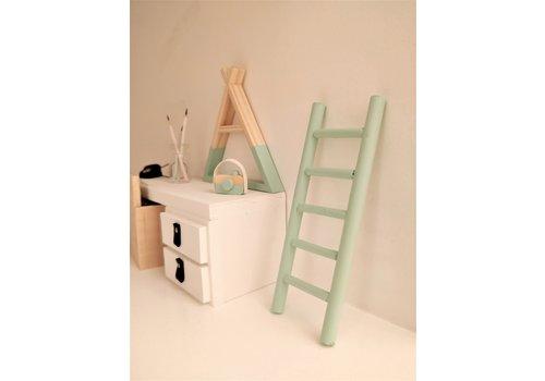 PROJECT DOLLHOUSE - Ladder - Mintgroen