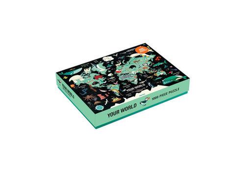 Mudpuppy MUDDPUPPY - Puzzel Wereldkaart - 1000stuks