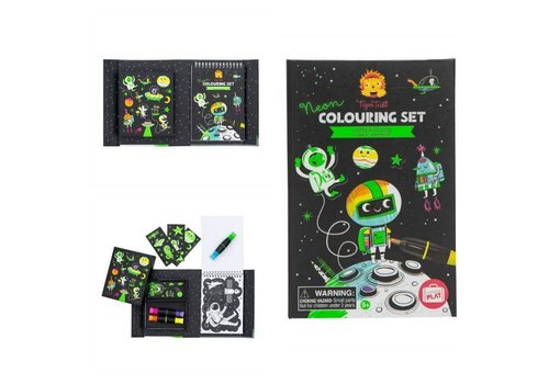 Tiger Tribe TIGER TRIBE - Colouring Set - Neon Space