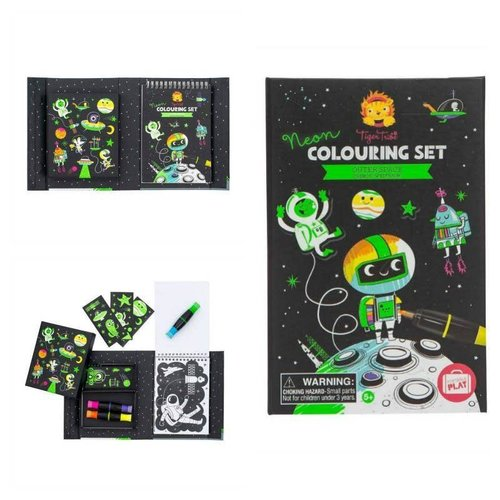 TIGER TRIBE - Colouring Set - Neon Space