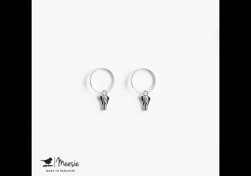 Meesie&Bintjes MEESIE&BINTJE - Oorbellen Bedel - Olifant (Zilver)