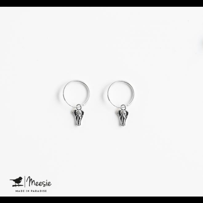 MEESIE&BINTJE - Oorbellen Bedel - Olifant (Zilver)