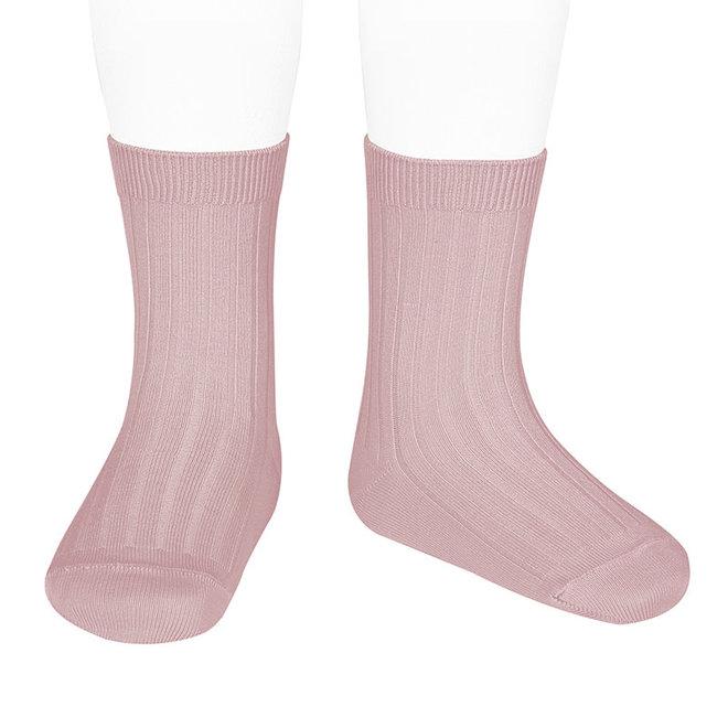 CONDOR - Korte Sokken - Pale Pink (526)