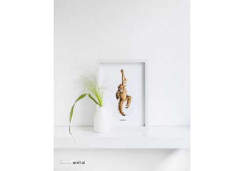 Meesie&Bintjes MEESIE&BINTJE - Poster A4 - Aap
