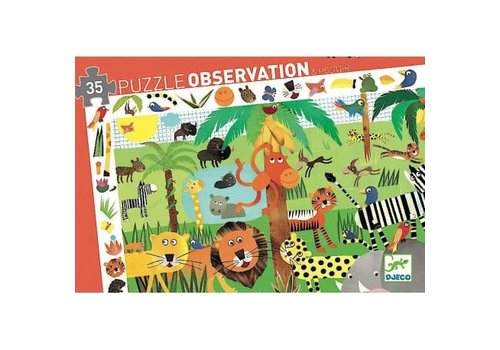 DJECO - Puzzel Observation - Jungle