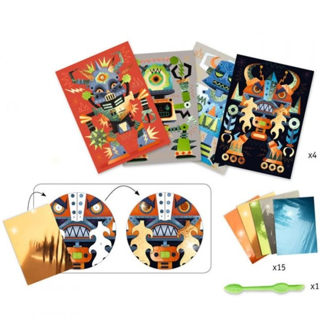 DJECO - Creatief met folie  - Robots