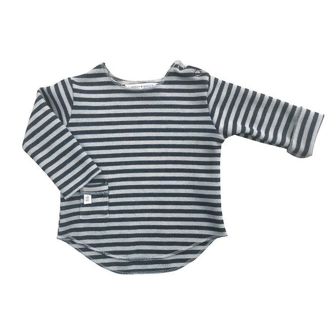 BAMBOOM - Longsleeve - Antraciet/Grey Stripe