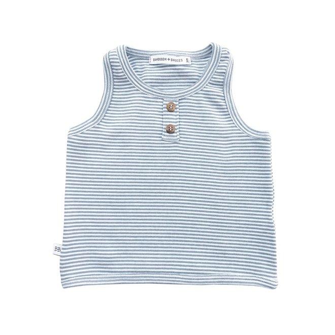 BAMBOOM - Top Sleeveless - Grey/White Stripe