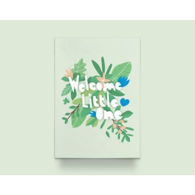 """Kathings - Postkaart - Flowers """"Welcome Little one"""""""