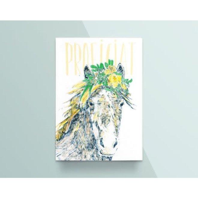 "Kathings - Postkaart - Animals  ""Proficiat"" Wild Paard"