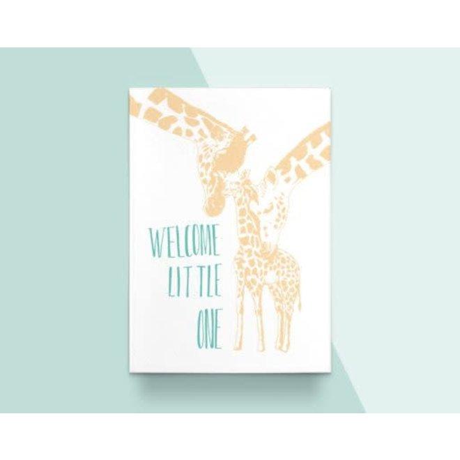"""Kathings - Postkaart - Animals  """"Welcome Little One"""" Giraf"""