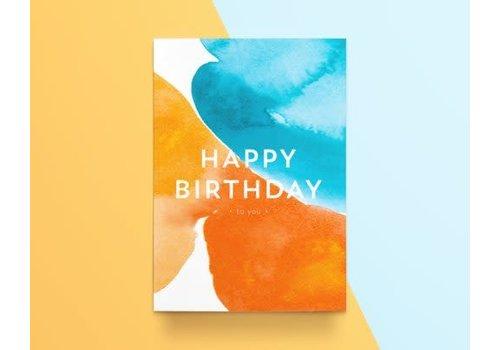 """Kathings Kathings - Postkaart - Colors """"Happy Birthday"""""""