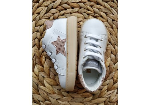 FALCOTTO - Sneakers - Sasha Vitello Bianco/rose