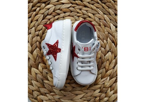 CIAO - Sneakers - Wit met ster Rood