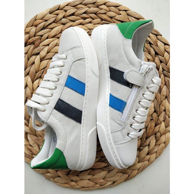 CIAO - Sneakers - Wit met streep (Maat 35 tem 39)