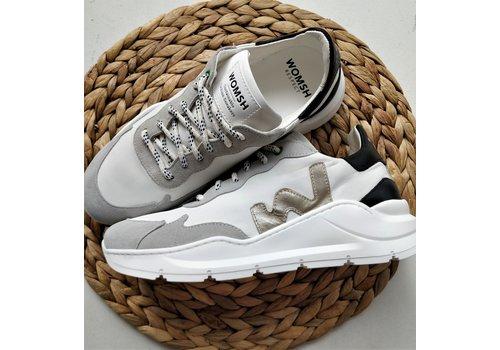 Womsh WOMSH - Vegan Sneakers - Wave White Platin