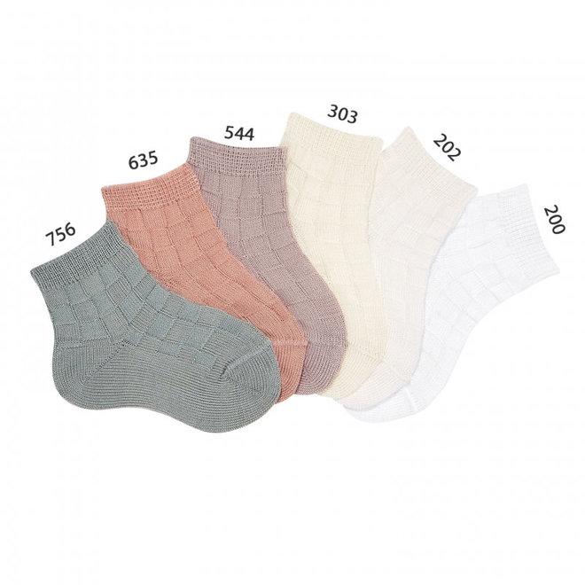 CONDOR - Korte Sokken met reliëf - Verschillende kleuren