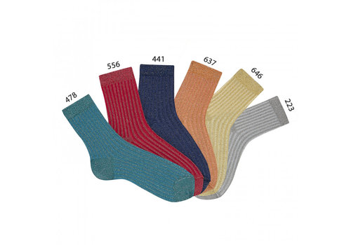 CONDOR CONDOR -  Korte sokken met Glitter - Gold/Silver