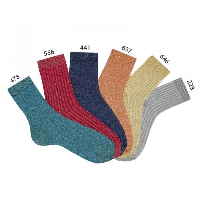 CONDOR -  Korte sokken met Glitter - Gold/Silver