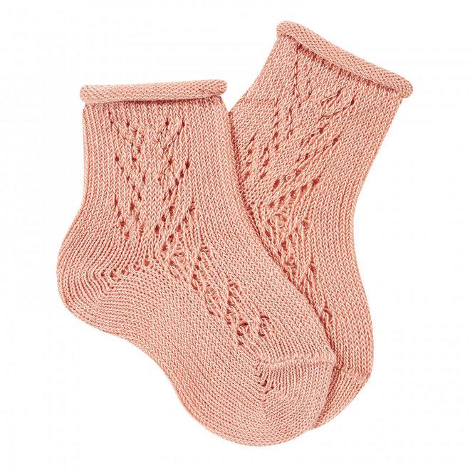 CONDOR -  Korte Sokken met open patroon - Verschillende kleuren