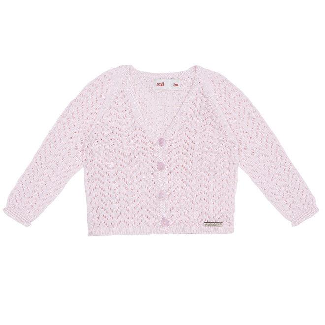 CONDOR - Cardigan met open patroon -  Baby Pink (500)