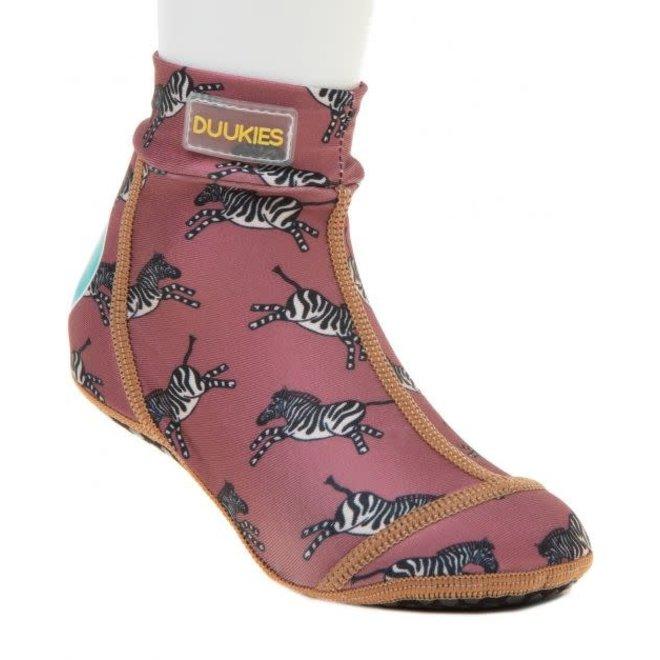 DUUKIES - Beachsocks - Zebra Raspberry