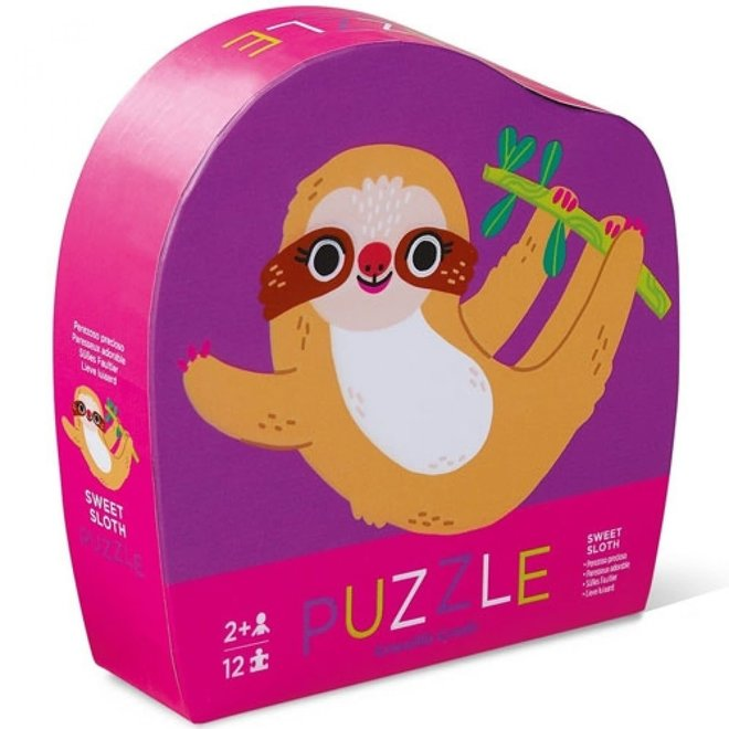 CROCODILE CREEK - Mini Puzzel - Luiaard (12stuks) 2+