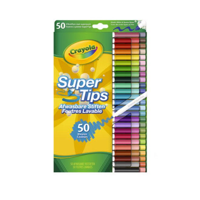 CRAYOLA - Viltstiften - Afwasbare Viltstiften Super Tips (50stuks)