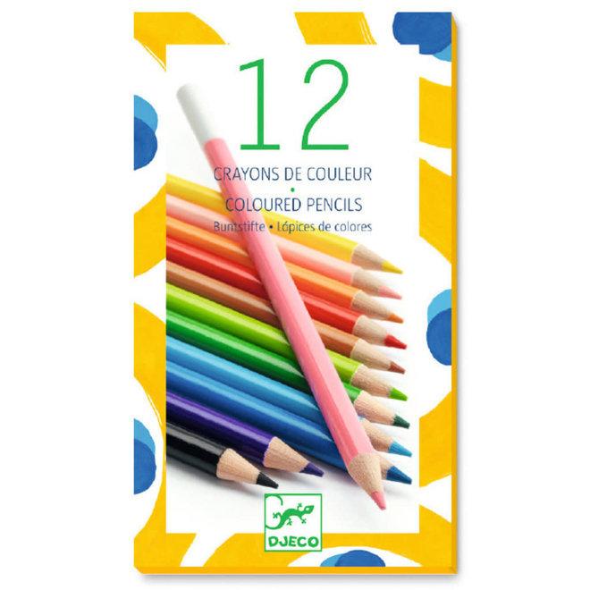 DJECO - Kleurpotloden - 12 kleuren