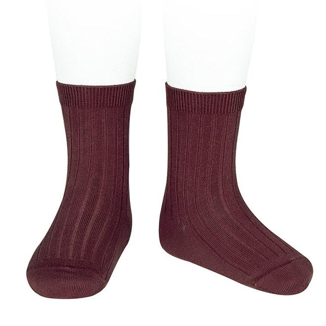 CONDOR - Korte Sokken - Garnet (575)