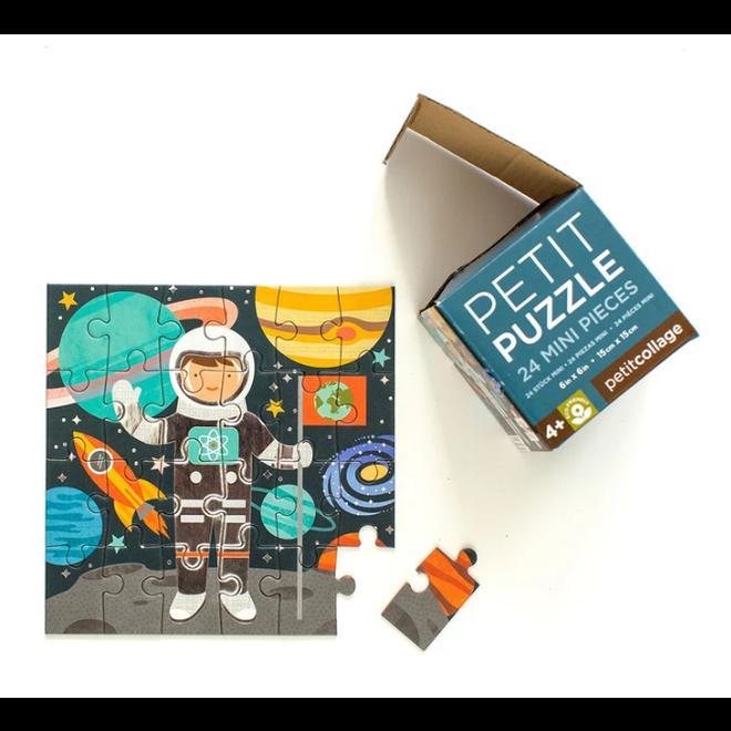 PETIT COLLAGE - Mini Puzzel - Austronaut (24stuks)