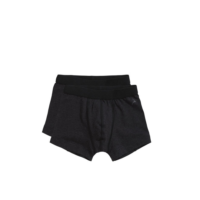TEN CATE - Onderbroek Boys - Shorts (2Pack)  Black Melee (Maat 122 tot 152)