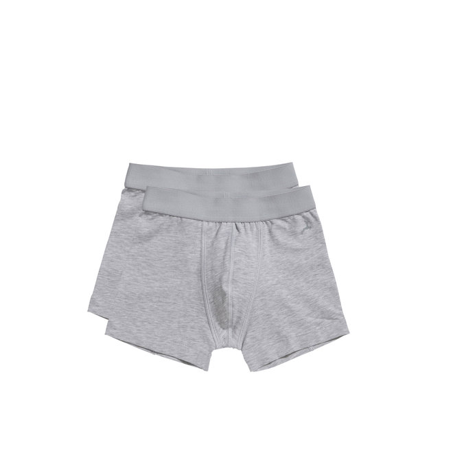 TEN CATE - Onderbroek Boys - Shorts (2pack) Light Grey (Maat 122 tot 152)