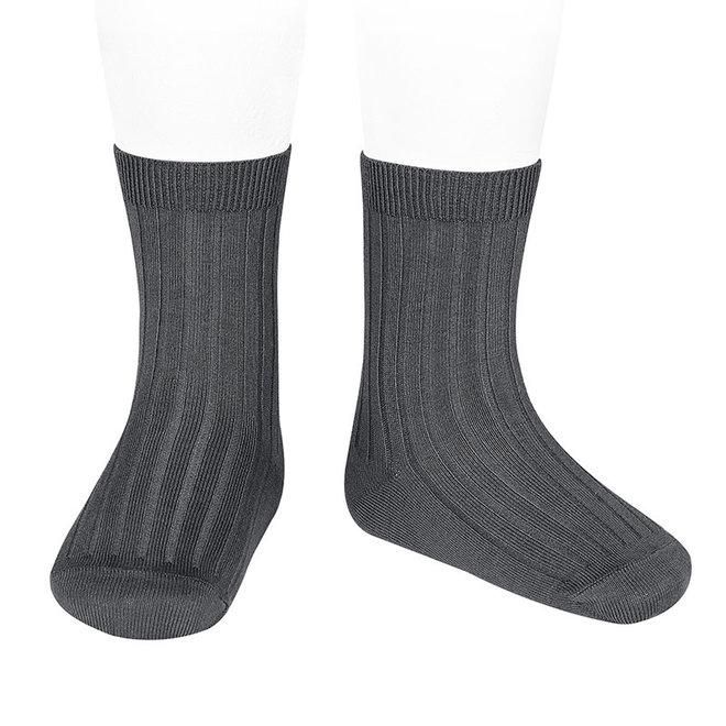 CONDOR - Korte Sokken - Anthracite (290)
