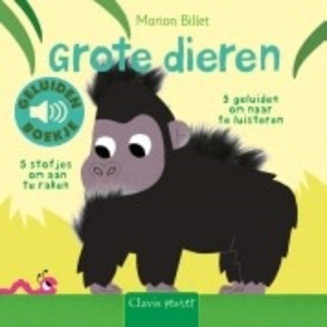 CLAVIS - Geluid- &Voelboek - Grote dieren