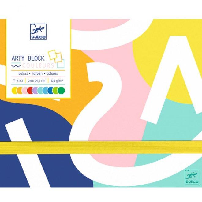 DJECO - Gekleurd Papier - Arty Bloc