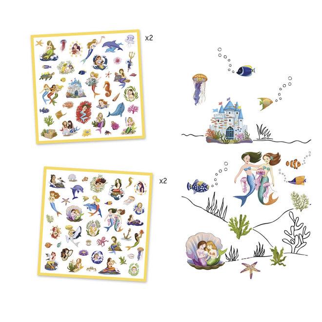 DJECO - 160 Stickers - Zeemeerminnen