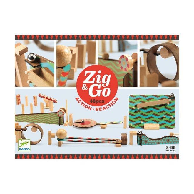 DJECO - Zig&Go - Domino Set (48stuks) 8+