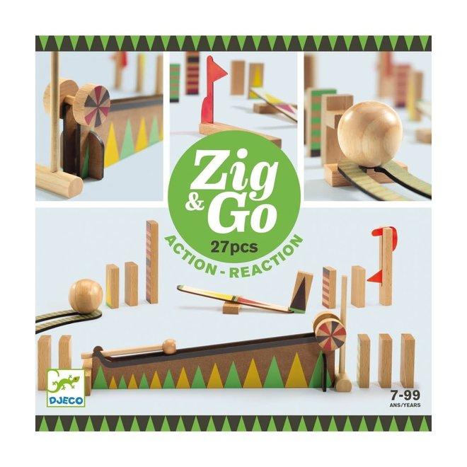 DJECO - Zig&Go - Domino Set (27stuks) 8+