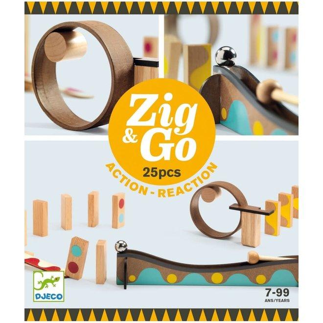 DJECO - Zig&Go - Domino Set (25stuks) 8+